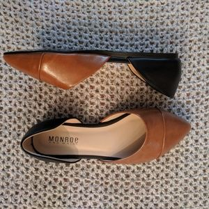 Monroe and Main brown and black loafers